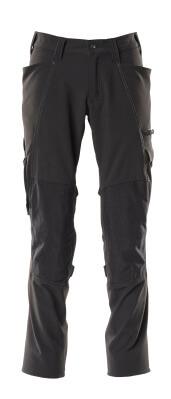 Hose, Knietaschen, Stretch Hose Größe 90C46, schwarz