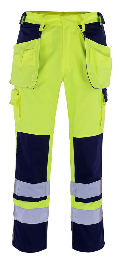MASCOT® Almas Handwerkerhose Größe 82C49, hi-vis gelb/marine