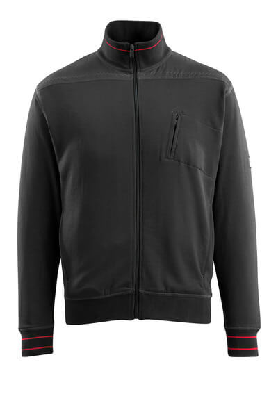 MASCOT® Chania Sweatshirt mit Reißverschluss Größe XL, schwarz