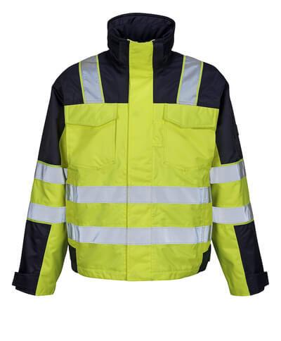 MASCOT® Genova Winterjacke Größe L, hi-vis gelb/marine