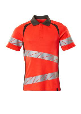 Polo-Shirt, moderne Passform Polo-shirt Größe M ONE, hi-vis rot/dunkelanthrazit