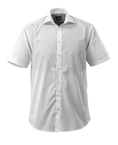 Hemd, Kurzarm, großzügige Passform  Größe 45-46, weiss
