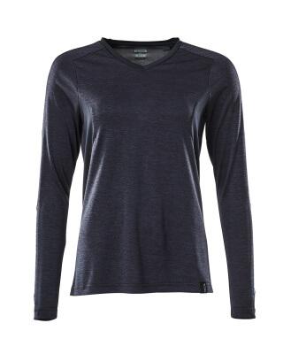 T-Shirt, Damen, mit COOLMAX®, Langarm T-shirt Größe L ONE, schwarzblau