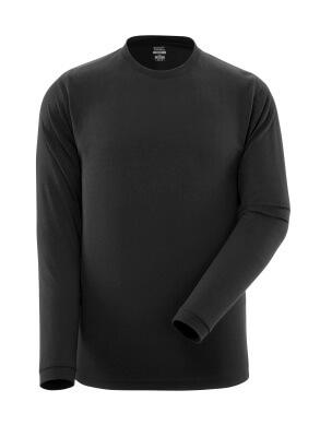 T-Shirt, Langarm, moderne Passform T-shirt Größe XL, schwarz