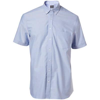 Hemd, Kurzarm, großzügige Passform  Größe 43-44, hellblau