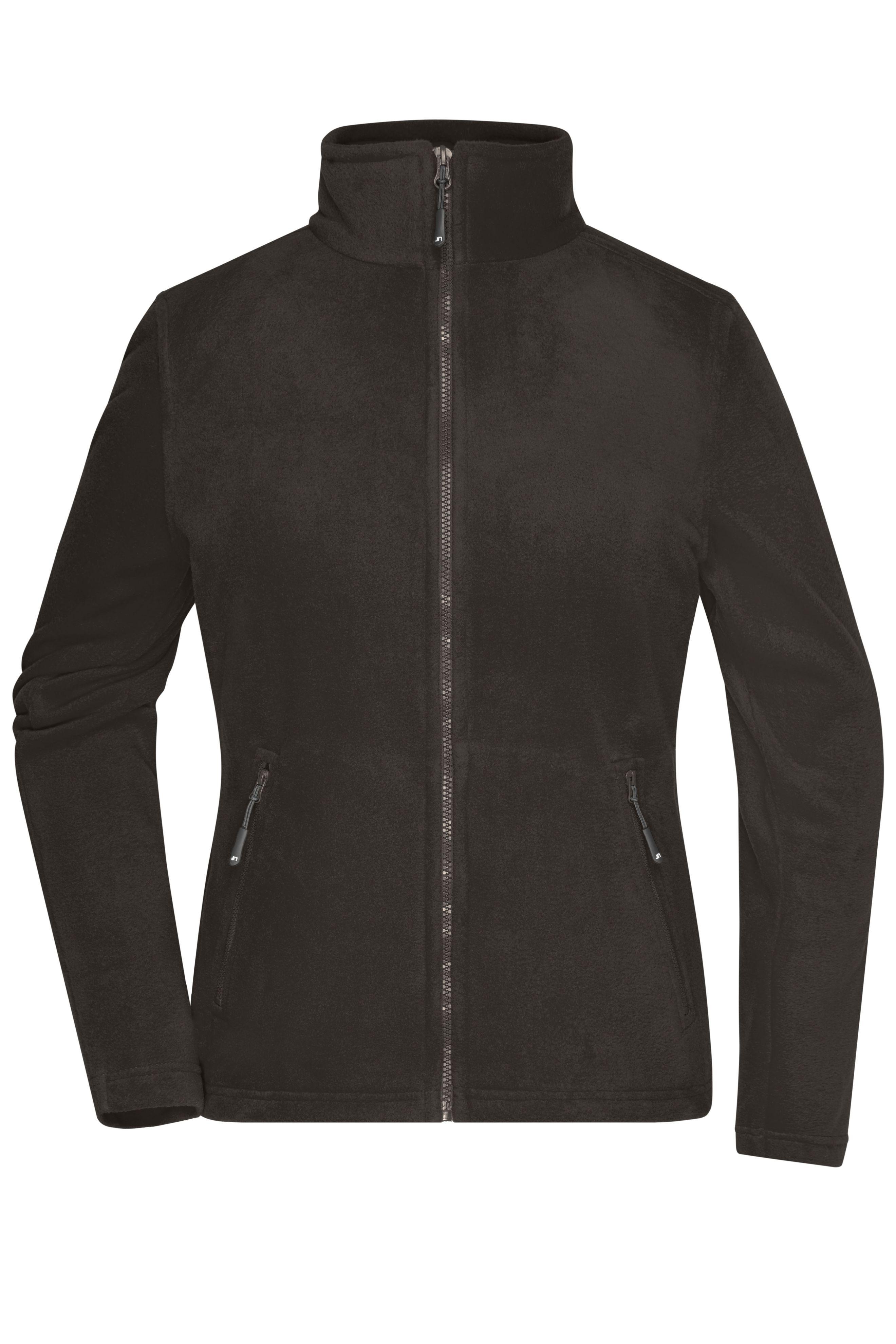 Fleece Jacke mit Stehkragen im klassischen Design