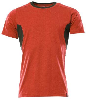 T-Shirt, Damen Damen T-shirt Größe L ONE, verkehrsrot/schwarz
