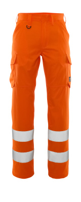 Hose, Schenkeltaschen, einfarbig Hose Größe 76C52, hi-vis orange