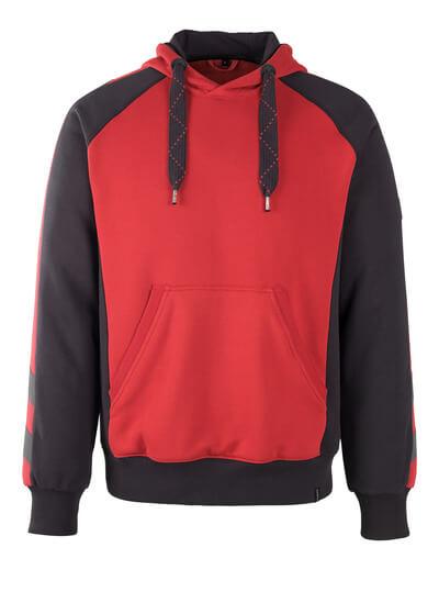 MASCOT® Regensburg Kapuzensweatshirt Größe XL, rot/schwarz