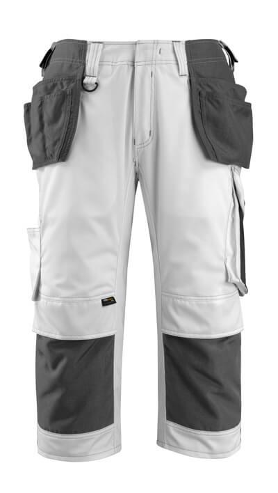 MASCOT® Lindau Handwerker-Dreiviertel-Hose Größe C60, weiss/dunkelanthrazit