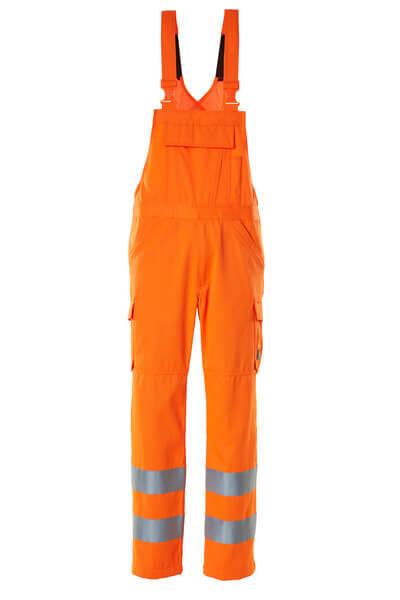Latzhose, einfarbig, Klasse 2 Latzhose Größe 82C68, hi-vis orange