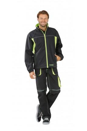 Basalt Neon Arbeitskleidung Softshelljacke oliv/orange L