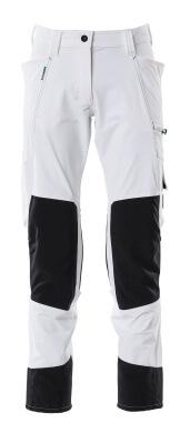 Hose mit Knietaschen, Damen, Diamond Hose Größe 76C56, weiss