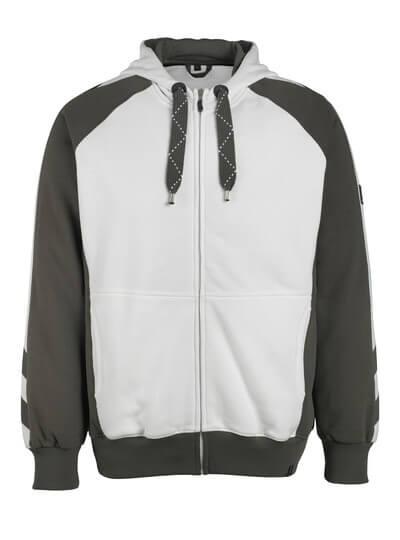 MASCOT® Wiesbaden Kapuzensweatshirt Größe S, weiss/dunkelanthrazit