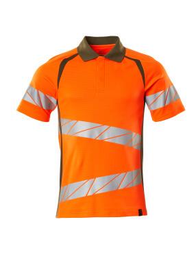 Polo-Shirt, moderne Passform Polo-shirt Größe 3XLONE, hi-vis orange/moosgrün