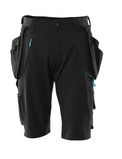 Shorts mit abnehmbaren Hängetaschen Handwerkershorts Größe C43, schwarz