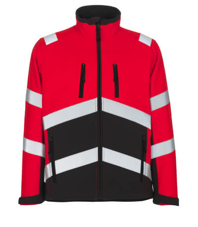 MASCOT® Antas Soft Shell Jacke Größe 3XL, hi-vis rot/dunkelanthrazit