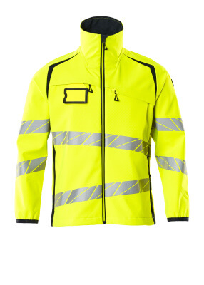 Soft Shell Jacke Soft Shell Jacke Größe M, hi-vis gelb/schwarzblau