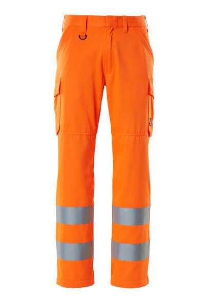 Hose, Schenkeltaschen, einfarbig Hose Größe 76C58, hi-vis orange