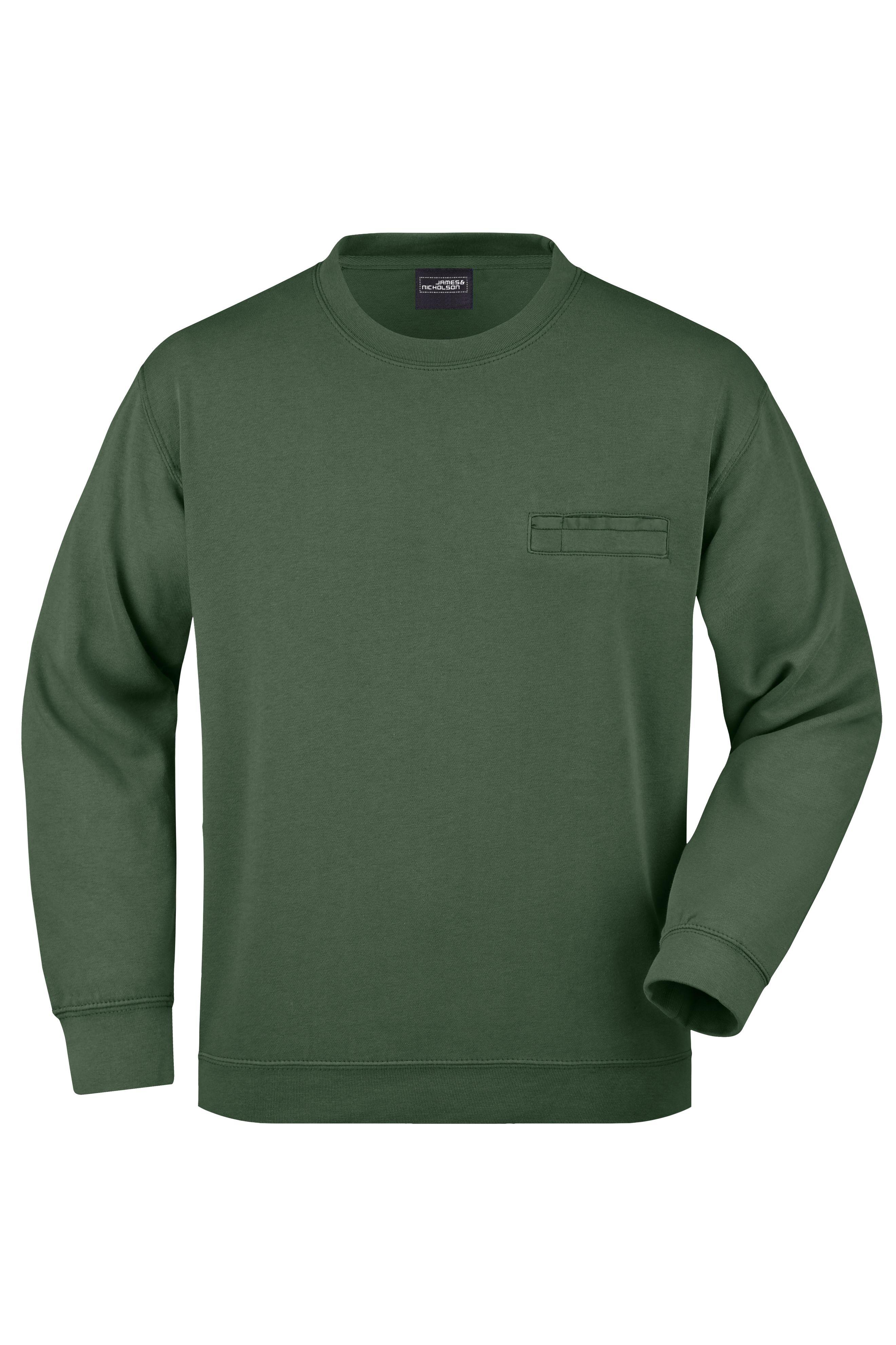 Klassisches Sweatshirt mit Brusttasche