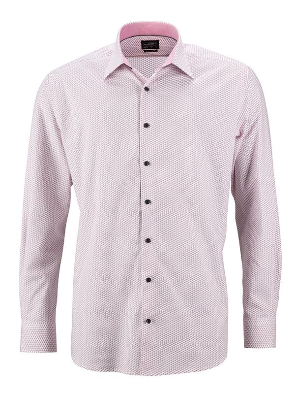 Klassisches Shirt mit modischem Minimal-All-Over Print