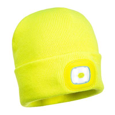 Mütze mit wiederaufladbaren LED - Leuchten vorn und hinten