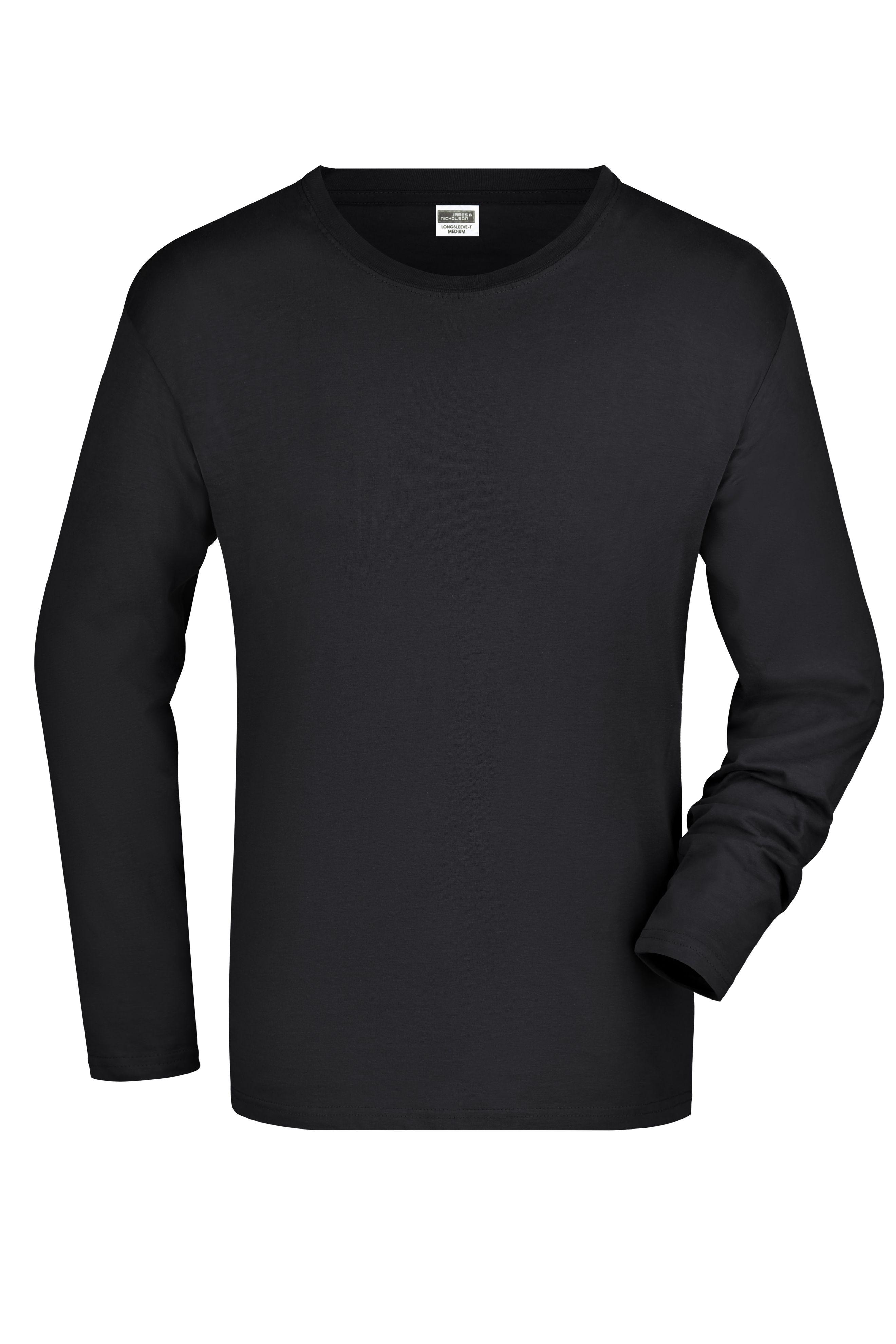 Langarm T-Shirt aus Single-Jersey