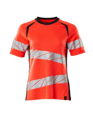 T-Shirt, Damenpassform T-shirt Größe 4XLONE, Hi-vis rot/schwarzblau
