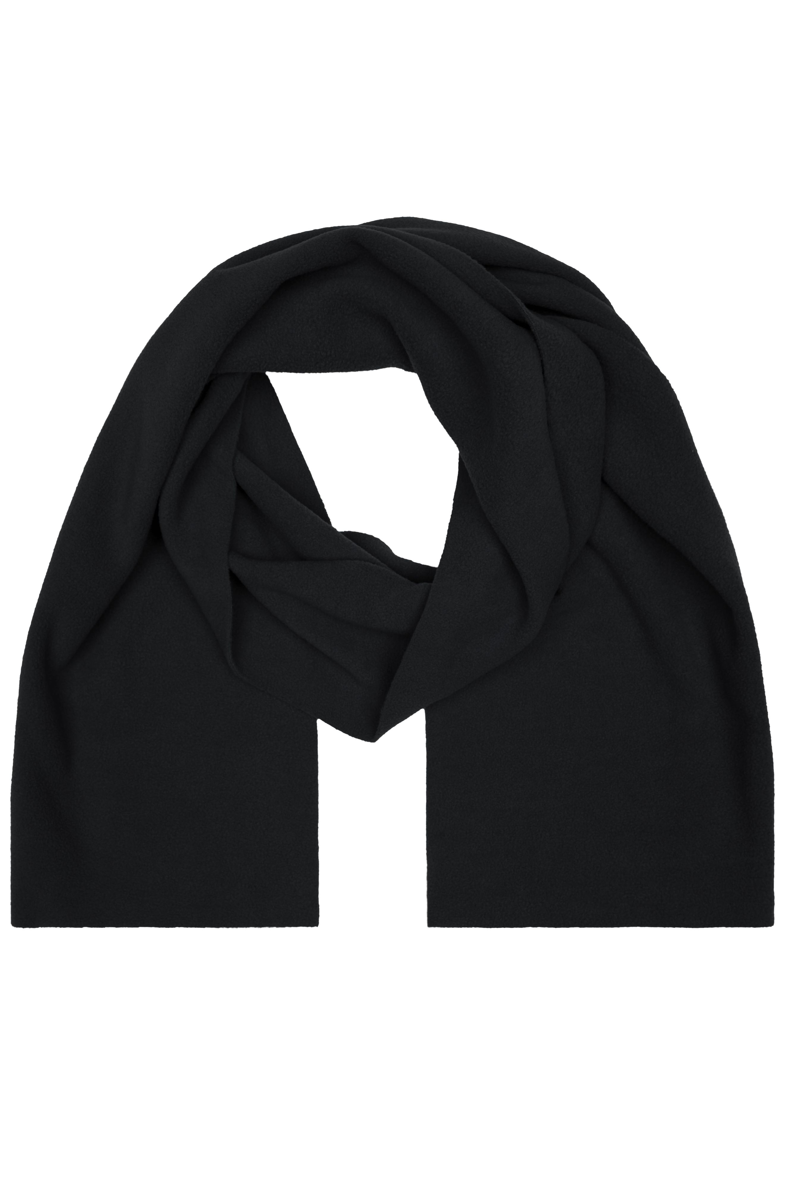Extrabreiter Fleece Schal ohne Fransen