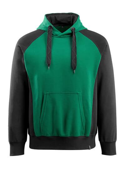 MASCOT® Regensburg Kapuzensweatshirt Größe M, grün/schwarz