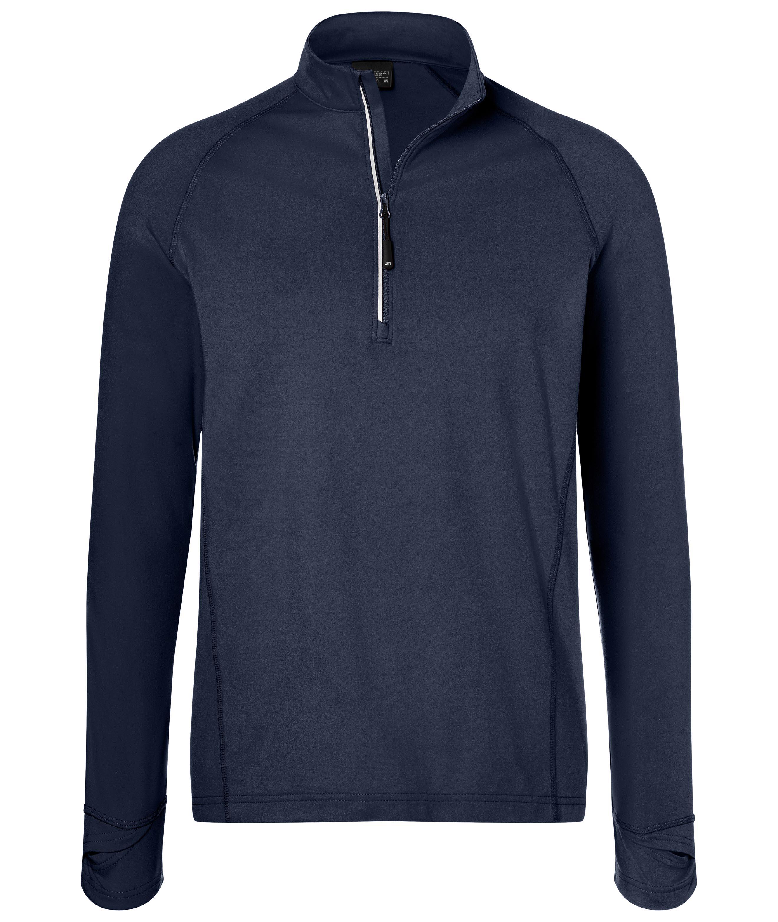 Langarm-Shirt mit Reißverschluss für Sport und Freizeit