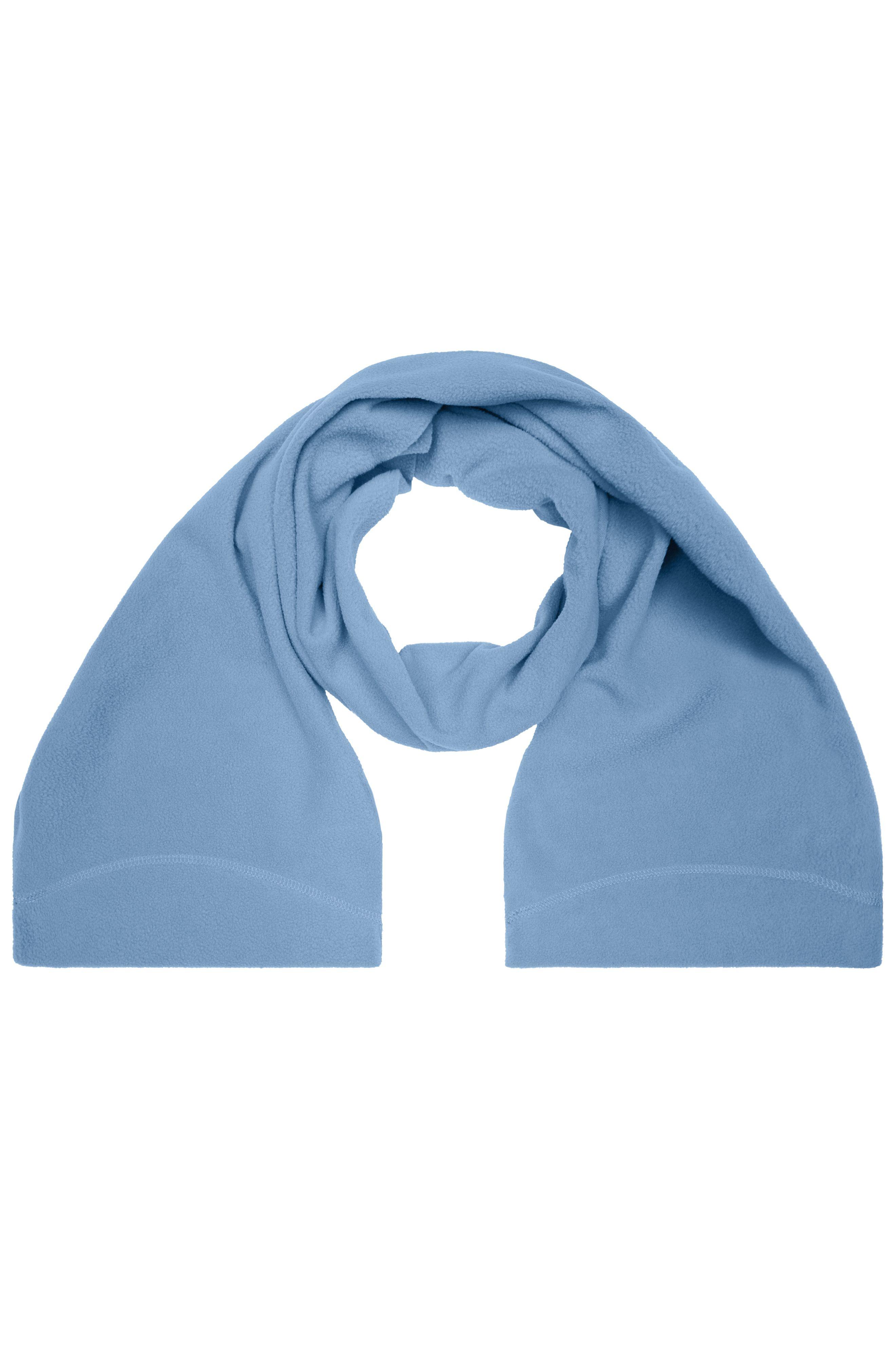 Eleganter Fleece Schal mit umgenähten Enden und Ziernaht