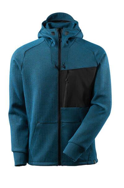 Kapuzensweatshirt, Reißverschluss Kapuzensweatshirt Größe S, Dunkelpetroleum/ schwarz