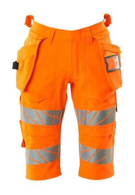 Shorts mit Hängetaschen, Stretch Shorts Größe C58, hi-vis orange