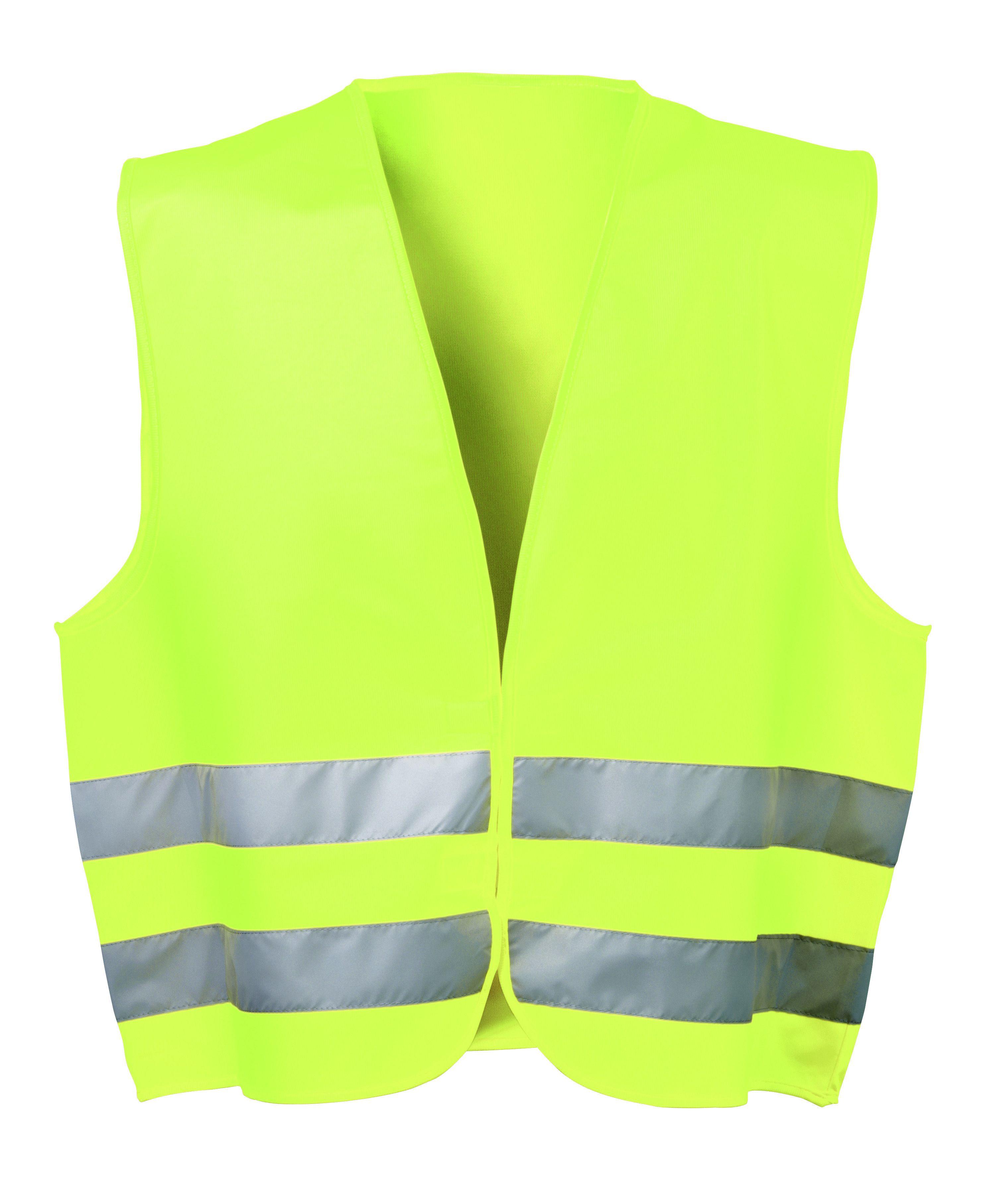 Warnweste, Klettverschluß, fluorgelb,EN ISO 20471/2, IM PE-BEUTEL, KLETT