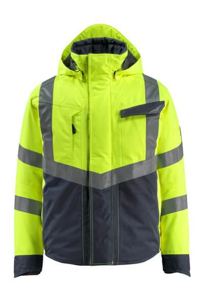 MASCOT® Hastings Winterjacke Größe S, hi-vis gelb/schwarzblau