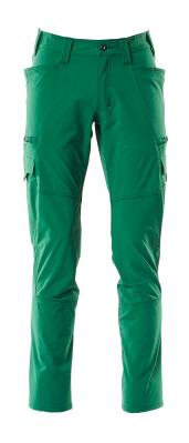 Hose, Schenkeltaschen, Stretch Hose Größe 82C64, grün