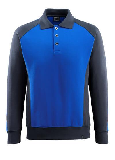 MASCOT® Magdeburg Polo-sweatshirt Größe L, kornblau/schwarzblau