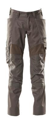 Hose mit Knietaschen, Stretch-Einsätze Hose Größe 90C54, dunkelanthrazit