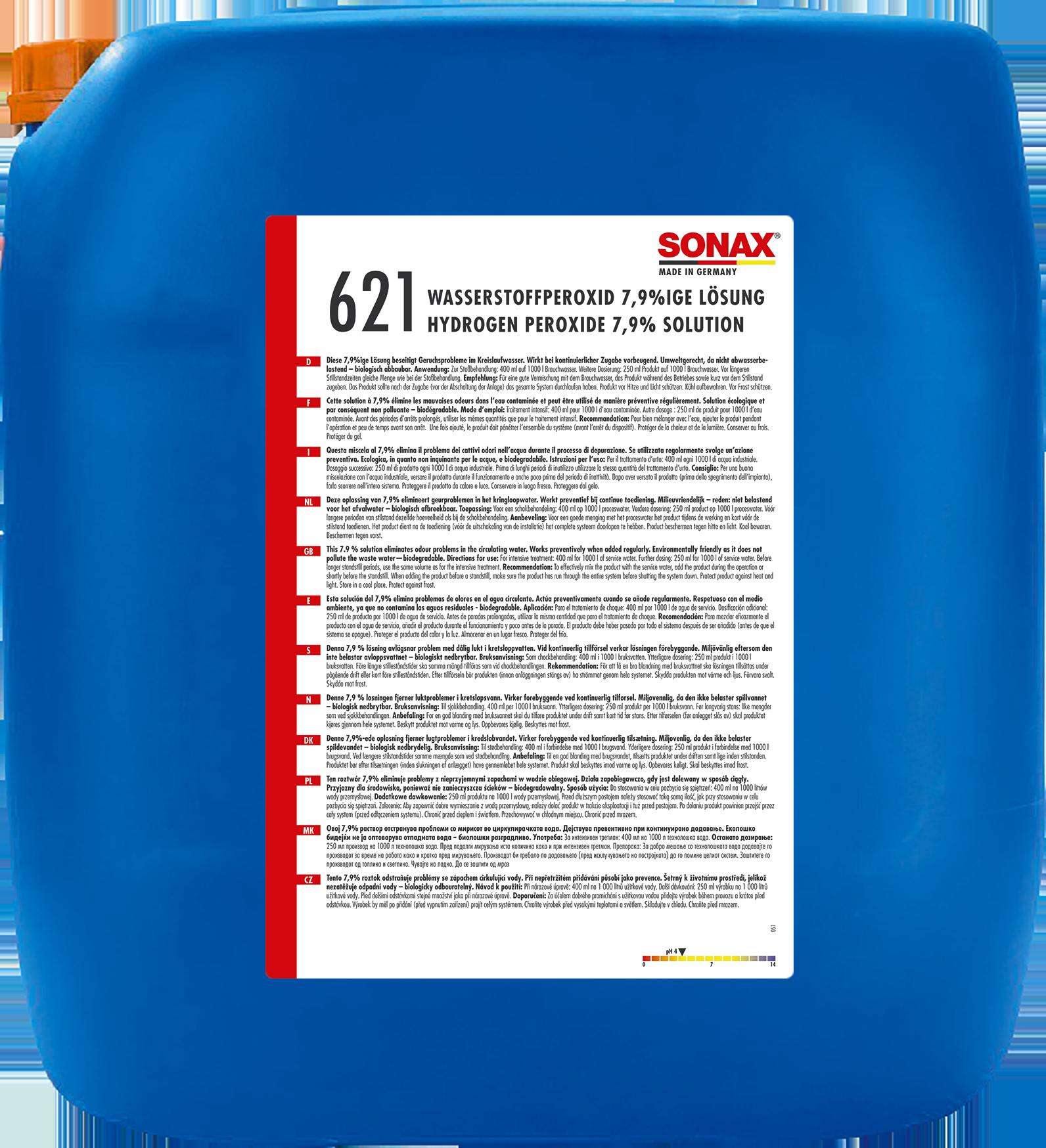 SONAX 06217000  Wasserstoffperoxid 7,9%ige Lösung 25 l