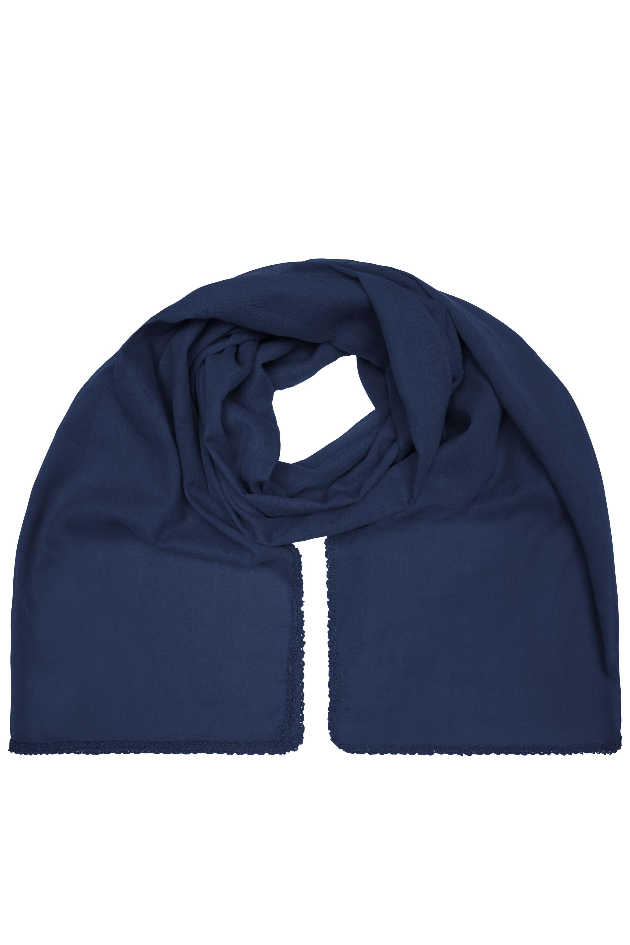 Modischer Schal mit Zierbordüre entlang der Kante