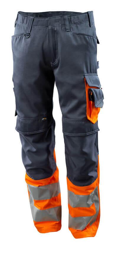 MASCOT® Leeds Hose Größe 82C47, schwarzblau/hi-vis orange
