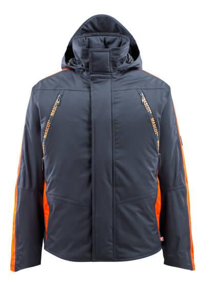 MASCOT® Tolosa Winterjacke Größe 4XL, schwarzblau/hi-vis orange