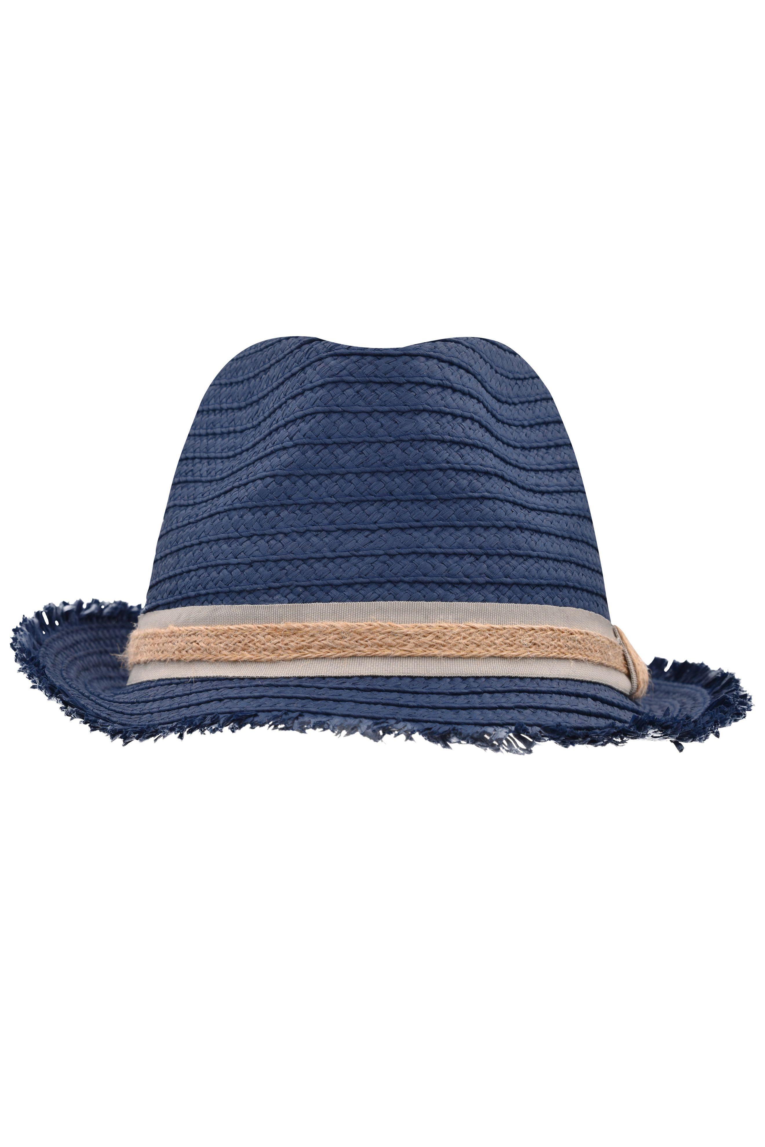Trendstarker Hut mit modischer Fransenkrempe