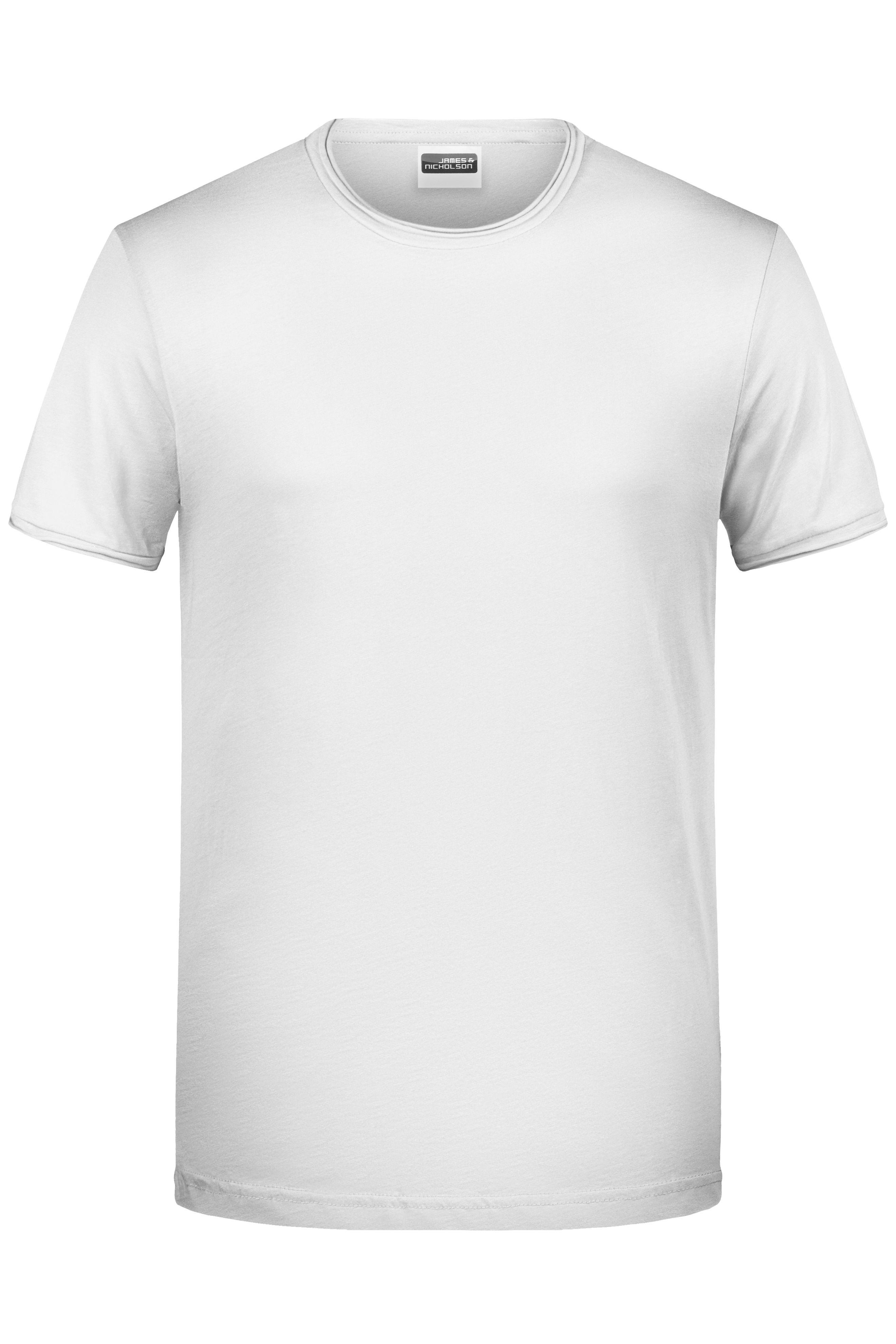 Herren T-Shirt mit trendigem Rollsaum