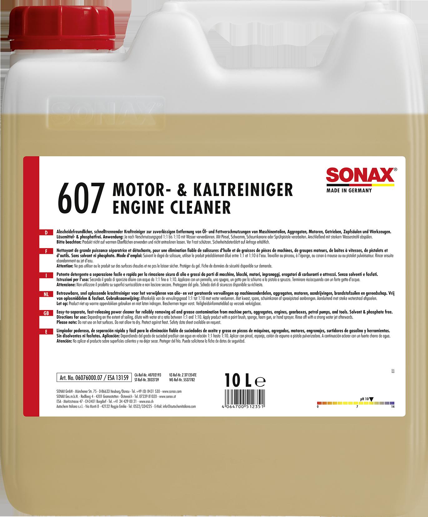 SONAX 06076000  Motor- & KaltReiniger /Engine Cleaner 10 l
