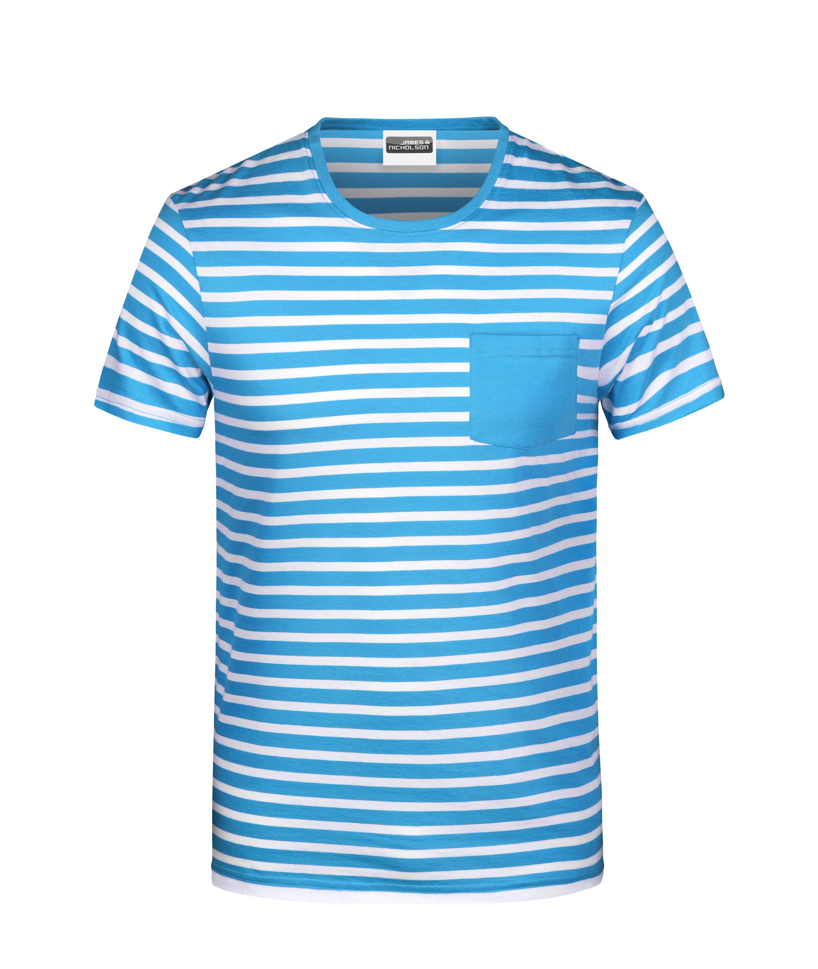 T-Shirt in maritimem Look mit Brusttasche