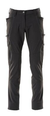 Hose, Damenpassform, Pearl, Stretch Hose Größe 82C50, schwarz