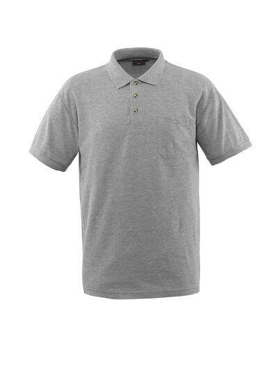 MASCOT® Borneo Polo-shirt Größe S, grau-meliert