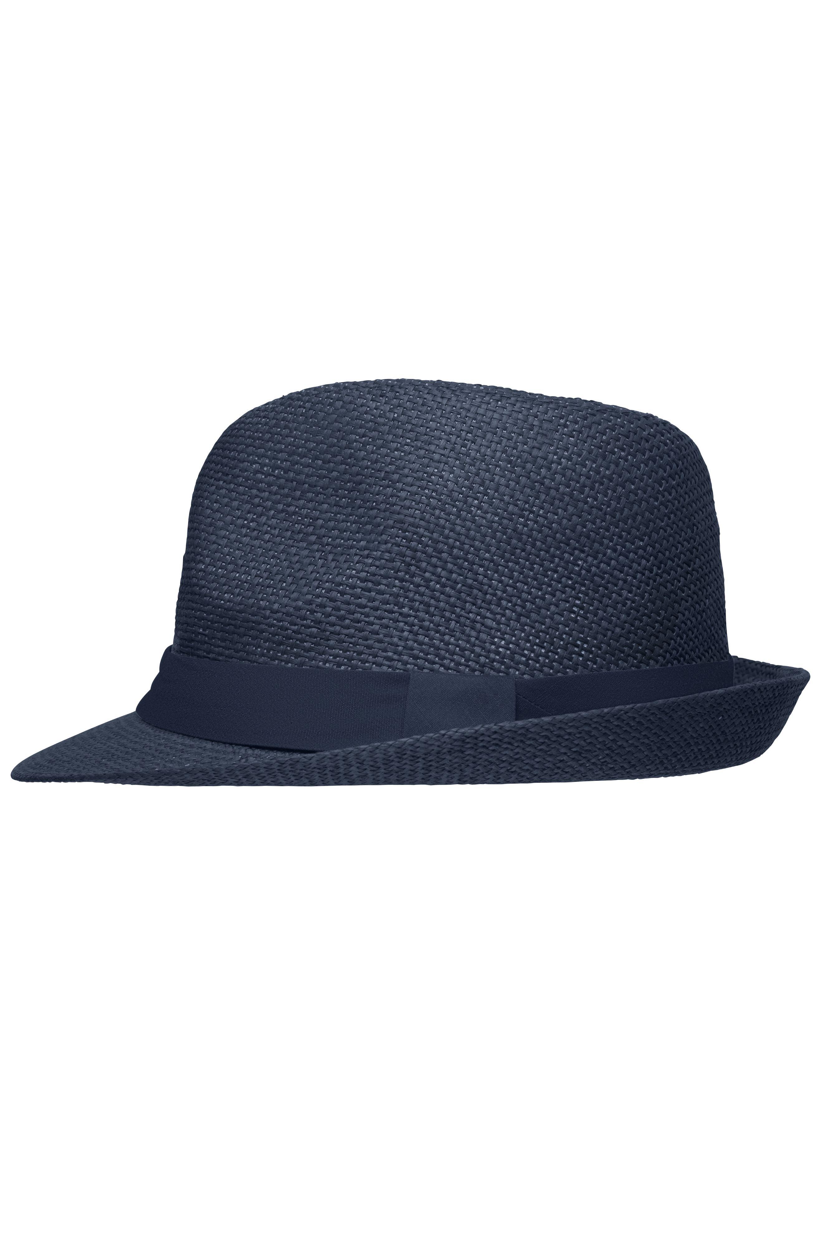 Stylisher, sommerlicher Streetwear Hut mit breitem kontrastfarbigem Band